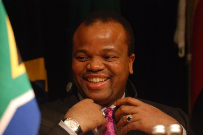 King Mswati - one of Africa's last executive monarchs.