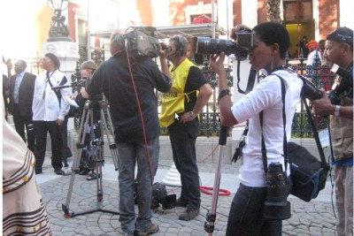 Media at the opening of parliament in South Africa (file photo).