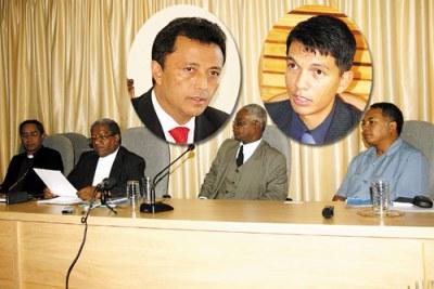 Négociations difficiles entre Marc Ravalomanana et Andry Rajoelina