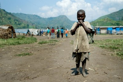 A child displaced by war in the eastern Democratic Republic of Congo: A new diplomatic partnership is working for peace in the region, says Ambassador Howard Wolpe of the U.S.
