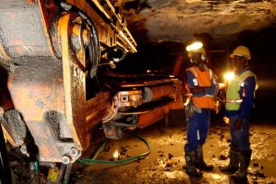 Un site d'exploration minière