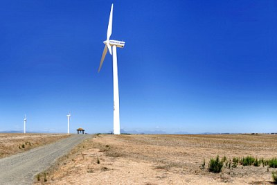 Eskom Generation's pilot wind-farm facility at Klipheuwel in the Western Cape, South Africa.