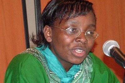 Victoire Ingabire,  leader de l'opposition et potentielle candidate