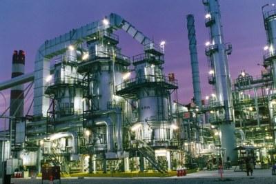 A Nigerian oil refinery.