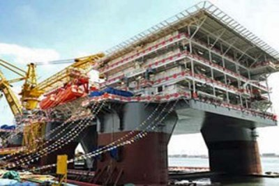 A Chevron oil rig to be deployed off Angola.