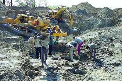 Mining in Nigeria (file photo).