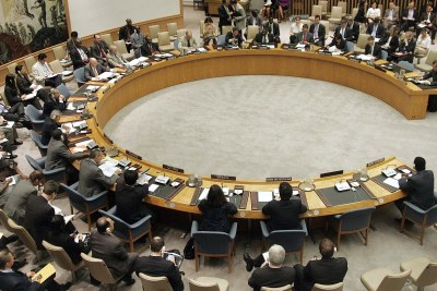 The United Nations Security Council discusses the situation in Côte d'Ivoire in June 2010.