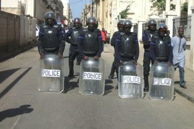 Dispositif policier lors des manifestations marquant le 11 ème anniversaire de l'alternance