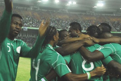Super Eagles celebrate.