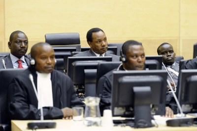 William Ruto, Henry Kiprono Kosgey and Joshua Arap Sang appear before the ICC (file photo).