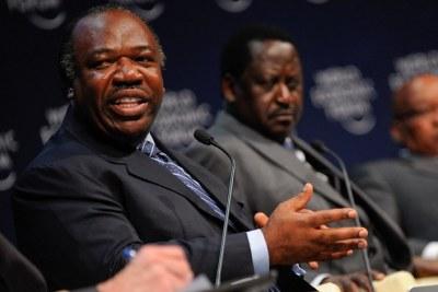 (Image d'archives) - Le président Ali Bongo au Forum Économique Mondial 2011 tenu du 4 au 6 Mai à Cape Town, Afrique du Sud