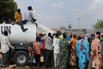 People displaced in Southern Kordofan being helped by the United Nations.