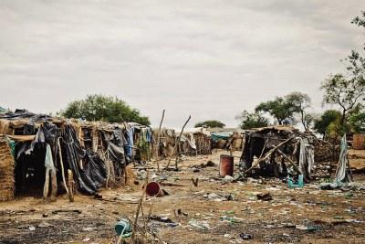 Le marché d'Aniet abandonné dans la région d'Abyei