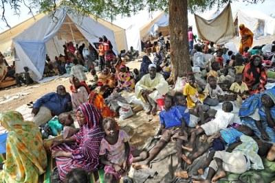 Des réfugiés soudanais.