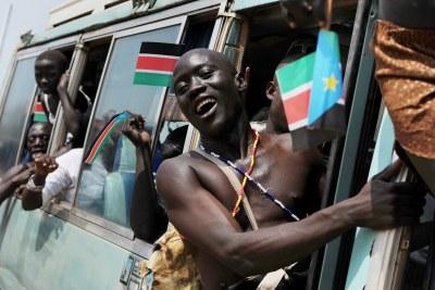 Celebrants in Juba, South Sudan