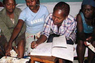 Paige Aarhus Members of the Maendeleo Women's group in Kibera, from left: Anastasia Wavinya, Lucy Katee, Christine Wairimu, Irene Aki
