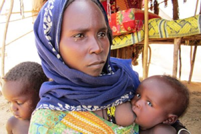 A woman and her children in western Chad, where malnutrition rates often surpass the international emergency threshold.