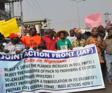Anti-Fuel Hike Protest in Lagos