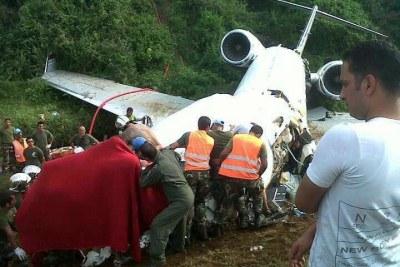 Le Jet privé qui transportait Augustin Katumba Mwanke s'est écrasé, à quelques encablures de l'aéroport de Kavumu, à Bukavu.