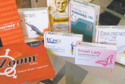 Packets of contraceptives (file photo).