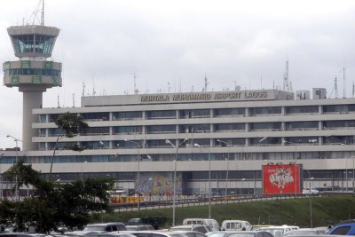 Murtala Muhammed International Airport in Lagos, Nigeria.