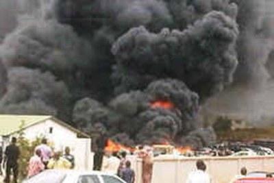 Bomb blast in Kaduna (file photo).