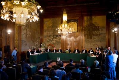 Vue de la Cour internationale de Justice (CIJ)