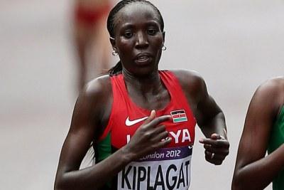 La championne olympique de marathon, la kényane Edna Ngeringwony Kiplagat, sur cette image et sa compatriote Edna continuent à dicter leur loi sur les pistes de compétition au niveau mondial
