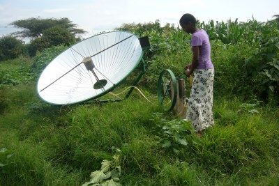 Solar powered pumps like this one in Ethiopia are good option when other sources of power are not available.