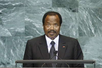President Paul Biya (file photo).