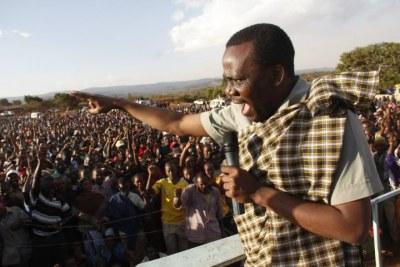 Opposition legislator Zitto Kabwe (file photo).