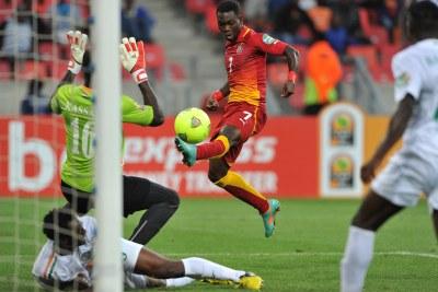 L'action de la star Christian Atsu qui marque contre le Niger.