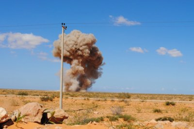 items of unexploded Sirte, Libya (file photo).