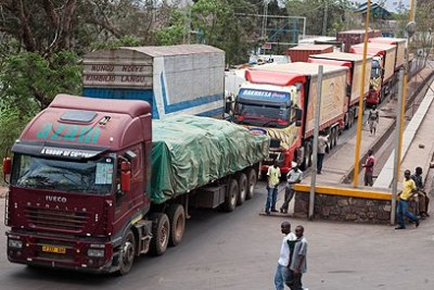 A busy Rwanda-Tanzania border post at Rusumo. The Bill seeks to ease clearances, among others (file photo).