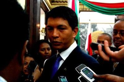 Andry Rajoelina, président de la Transition
