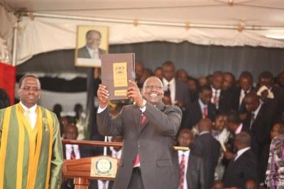 William Ruto durant la cérémonie d' inauguration