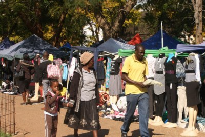 Most Zimbabweans are informal traders (file photo).
