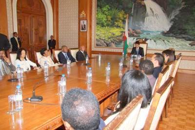 Conseil des ministres à Madagascar dirigé par le président Andry Rajoelina