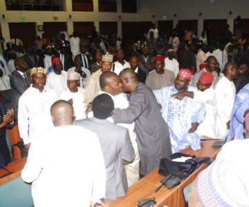 Nigerian Senators Exchange Blows