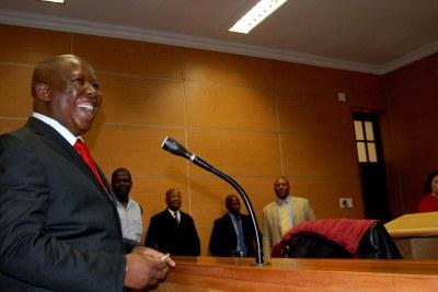 Julius Malema in court, 18 November 2013.