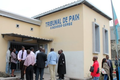 Tribunal de paix de la Gombe à Kinshasa.