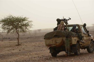 Fighters on patrol in northern Mali (file photo).