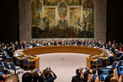 Members of the United Nations Security Council (file photo).