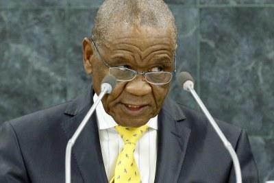 Motsoahae Thomas Thabane, Prime Minister of the Kingdom of Lesotho.