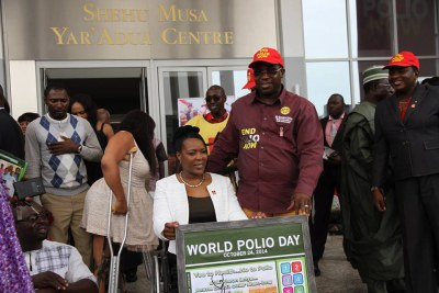 World Polio Day at the Shehu Musa Yar'Adua Auditorium - Sir Emeka Offor and supporters.