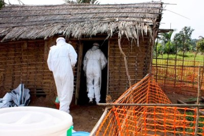 An isolation camp for the 2009 Ebola patients in DR Congo