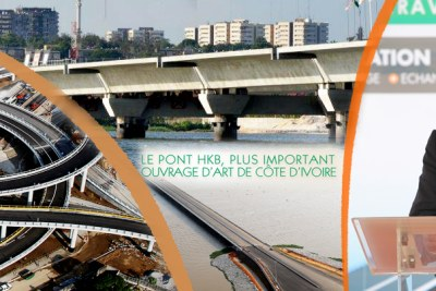 Inauguration du pont Henri Konan Bédié (HKB).