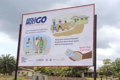 An Ebola must go bill board