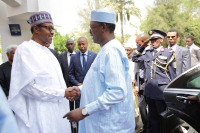 Idris Derby, the president of Chad visited Nigeria's President-elect Muhammadu Buhari in Abuja.