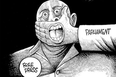 Attempts by the government to muzzle the press through repressive laws.